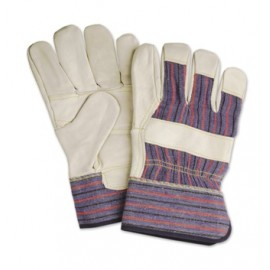 Gloves with leather & cotton Advantage (12 pairs)