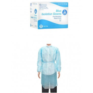 Dynarex Isolation Gowns / 50 PER BOX