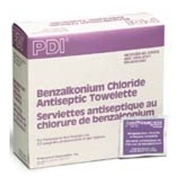 Benzalkonium Chloride Antiseptic Towelettes - Box of 100
