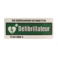 AED ELECTROSTATIC DOOR OR WINDOW SIGN (FRENCH ONLY)